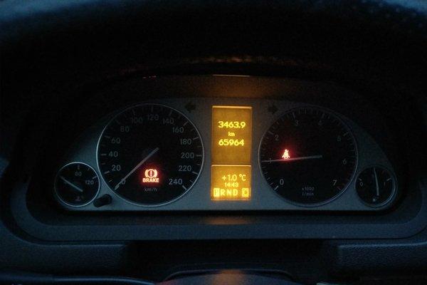 老奔驰仪表盘指示灯图解
